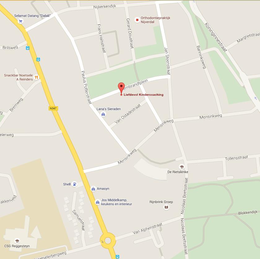 Google maps bewerkt
